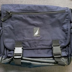 Other - Nautica Canvas Messenger Bag, Navy Blue, NWOT